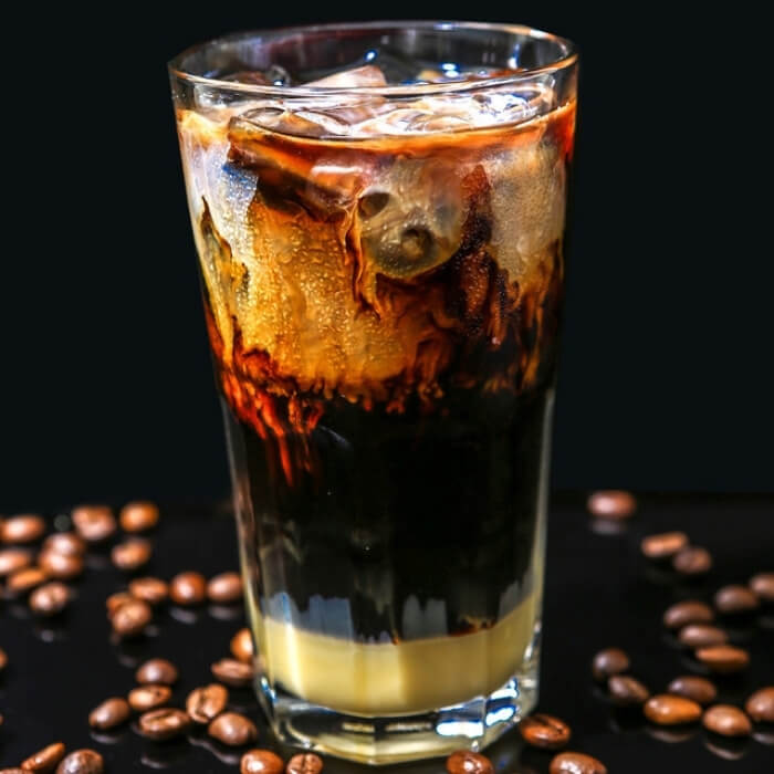 iced milk coffee